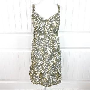 Tommy Bahama Olive Branch Mini Babydoll Dress Silk